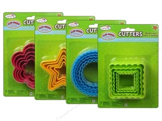 Clay & Modeling Cutters: Multicraft Krafty Kids Clay-Dough Cutter Nested Assorted 4 Styles (4 sets)