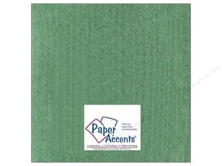 Cardstock 12 x 12 in. #408 Linen Dark Sage by Paper Accents