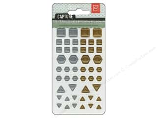 BasicGrey BasicGrey Buttons: BasicGrey Candy Button Stickers Capture Metallic