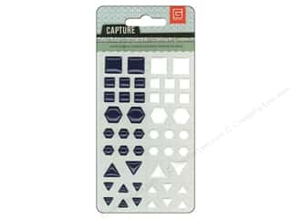 BasicGrey Candy Button Stickers Capture Navy & White