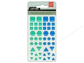 BasicGrey BasicGrey Buttons: BasicGrey Candy Button Stickers Capture Blue & Green