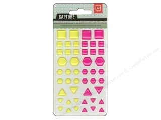 BasicGrey BasicGrey Buttons: BasicGrey Candy Button Stickers Capture Yellow & Hot Pink