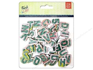 BasicGrey Chipboard Alphabet Stickers Fresh Cut