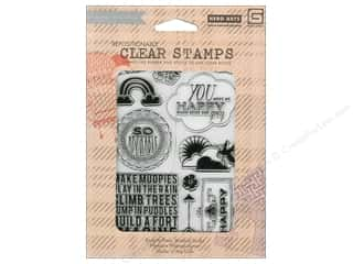 Clearance Plaid Stamps Clear: BasicGrey Clear Stamps 11 pc. Fresh Cut Oh Fun