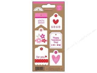 Tags Valentine's Day: Doodlebug Stickers Sweetheart Mini Tags