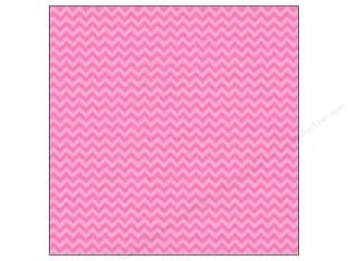 Doodlebug Paper 12 x 12 in. Chevron Bubblegum (25 piece)