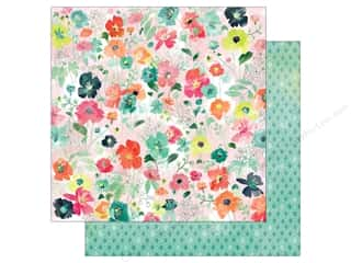 BasicGrey 12 x 12 in. Paper Fresh Cut Poppy Lane (25 piece)