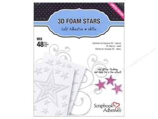 therm o web foam adhesive: 3L Scrapbook Adhesives 3D Foam Stars 48 pc.