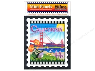 Quilting Vacations: Zebra Patterns Printed Fabric Panel 6 x 7 in. California Stamp