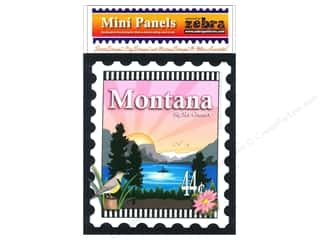 Zebra Patterns Printed Panel 6 x 7 in. Montana Stamp