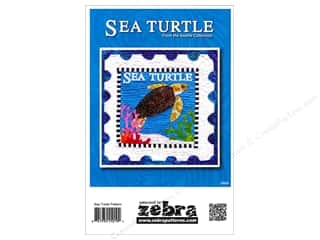 Beach & Nautical: Zebra  Sea Turtle Stamp Pattern