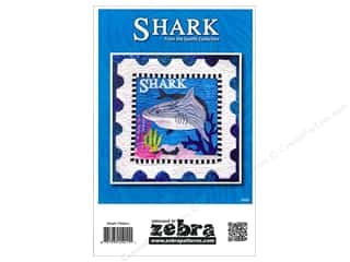 Beach & Nautical Clearance: Zebra Shark Stamp Pattern
