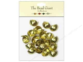 The Bead Giant Nailhead Cone 1/2 in. Gold 20 pc.