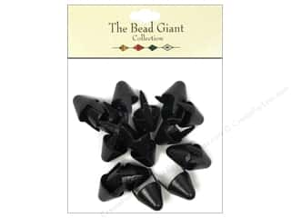 The Bead Giant Nailhead Spike Large Black 20 pc.