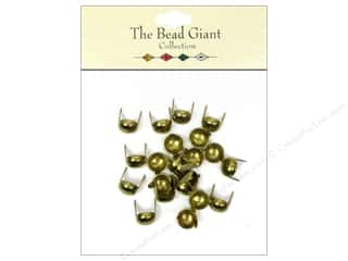 Beads $5 - $22: The Bead Giant Collection Nailhead Dome 5/16 in. Gold 22 pc.