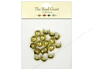 The Bead Giant Nailhead Dome 3/8 in. Gold 20 pc.