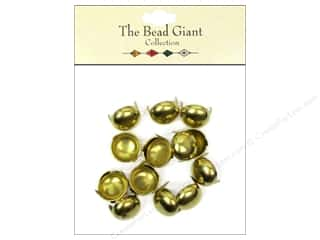 The Bead Giant Nailhead Dome 1/2 in. Gold 16 pc.