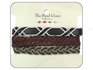 Leatherwork Family: The Bead Giant Collection Leather Bracelet Assorted Brown