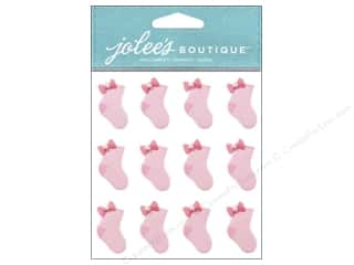 Socks Pink: Jolee's Boutique Stickers Baby Girl Socks Repeat