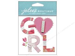 Yarn Captions: Jolee's Boutique Stickers Baby Girl Yarn Word