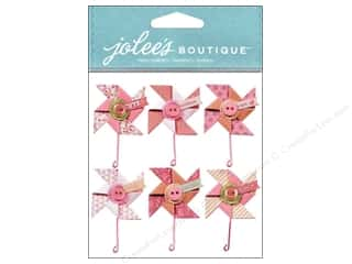 Jolee's Boutique Stickers Baby Girl Pinwheels Repeat
