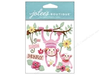 Jolee's Boutique Stickers Baby Girl My Little Monkey