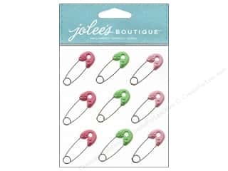 Pins Baby: Jolee's Boutique Stickers Baby Girl Safety Pins