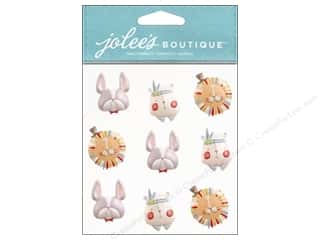 Red Hat Feathers: Jolee's Boutique Stickers Baby Boy Animal Faces Repeat
