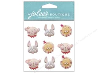 Jolee's Boutique Stickers Baby Girl Animal Faces Repeat