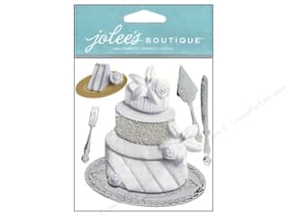 Craft Knife Flowers: Jolee's Boutique Stickers Wedding Cake
