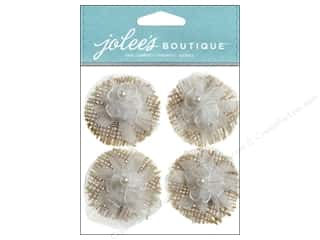 Wedding Brown: Jolee's Boutique Stickers Lace Flowers