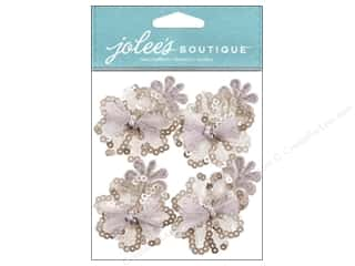 Jolee's Boutique Stickers Cream Sequin Florals
