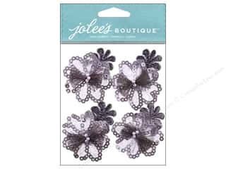 Jolee's Boutique Stickers Grey Sequin Florals