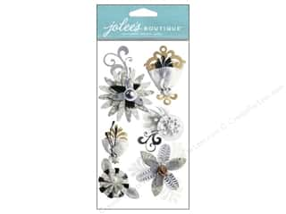 theme stickers  wedding: Jolee's Boutique Stickers Wedding Feather Florals
