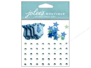 Jolee's Boutique Stickers Baby Boy Confetti And Gems