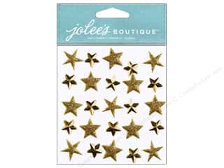 EK Success EK Jolee's Stickers: Jolee's Boutique Stickers Gold Stars Repeat