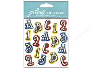 ABC & 123 Scrapbooking & Paper Crafts: Jolee's Boutique Stickers Chalkboard ABC 123 Repeat