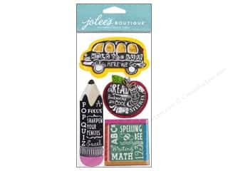 stickers  -3D -cardstock -fabric: Jolee's Boutique Stickers Chalkboard Words