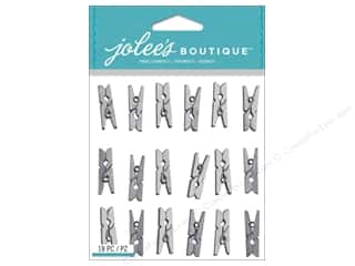 Clips Gifts: Jolee's Boutique Stickers Silver Clips Repeat