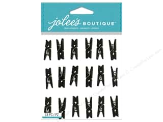 Clips Black: Jolee's Boutique Stickers Black Clips Repeat