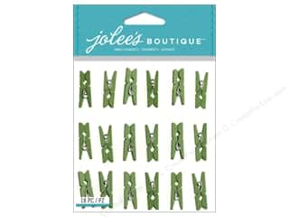 Clips Gifts: Jolee's Boutique Stickers Green Clips Repeat