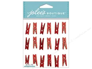 EK Success EK Jolee's Stickers: Jolee's Boutique Stickers Red Clips Repeat