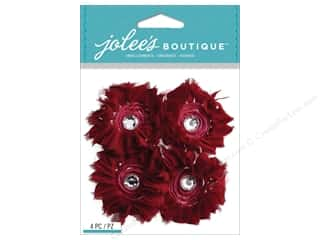 Paper Accents Burgundy: Jolee's Boutique Stickers Maroon Large Florals