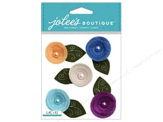 Jolee's Boutique Stickers Rolled Felt Flowers