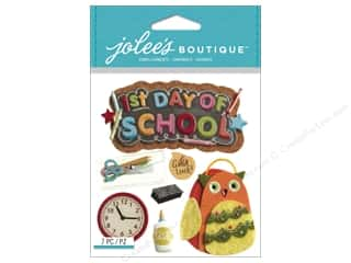 "Erasers 14"": Jolee's Boutique Stickers 1st Day of School"