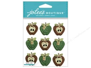 stickers  -3D -cardstock -fabric: Jolee's Boutique Stickers Apples Repeat