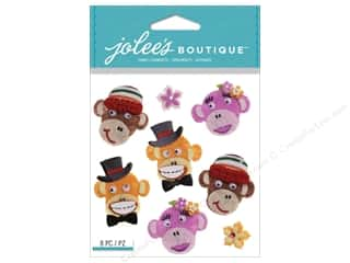 Jolee's Boutique Stickers Monkey Repeat