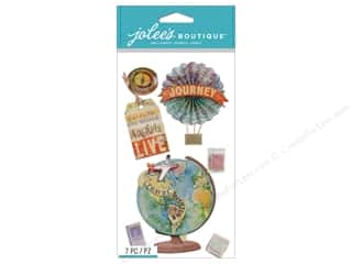 Vacations Hot: Jolee's Boutique Stickers Map Medallions