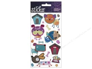 EK Sticko Sticker Fabric Puppies