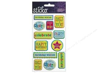 phrase stickers: EK Sticko Stickers Celebrate Phrases